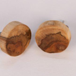 Boucles d'oreilles perçeuses en chêne echauffé
